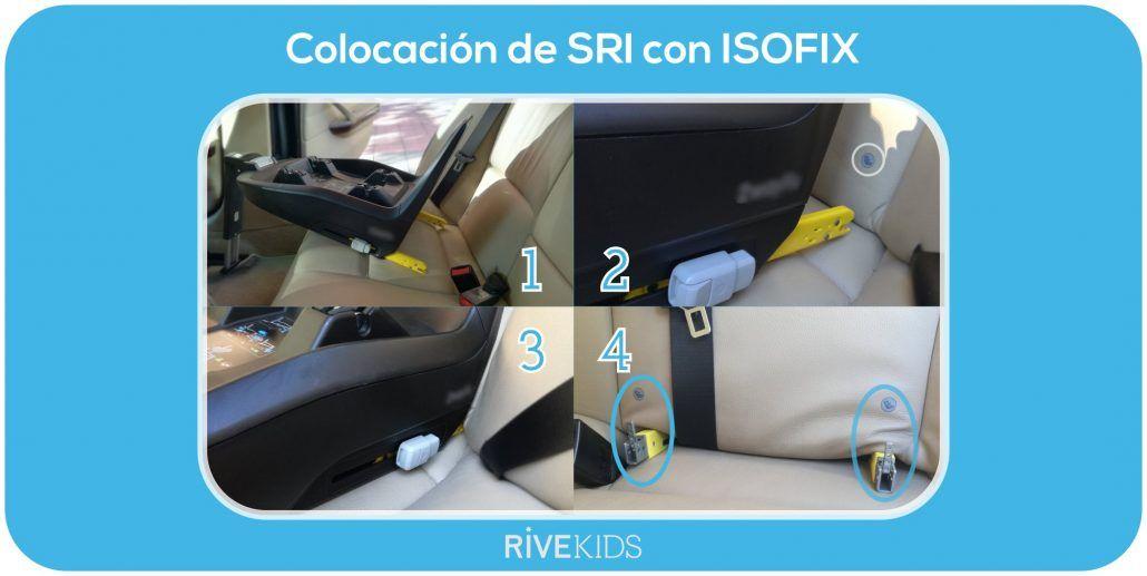 cómo colocar el sistema de anclaje isofix