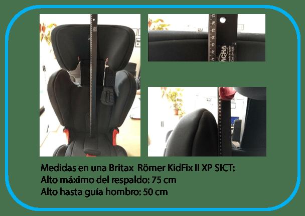 comparativa medidas silla Britax Römer KidFix II XP SICT