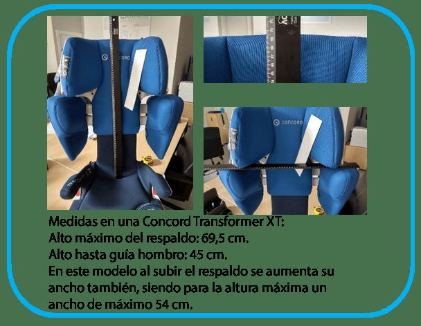 comparativa de medidas de silla Concord Transformer XT