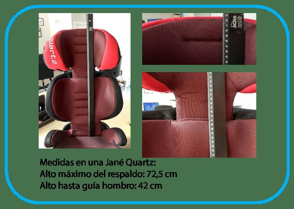 comparativa de medidas de silla Jané Quartz