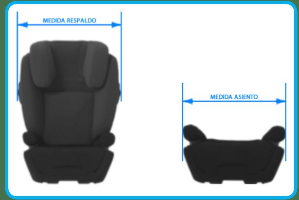 medidas para la comparativa de sillas de coche grupo 2 3