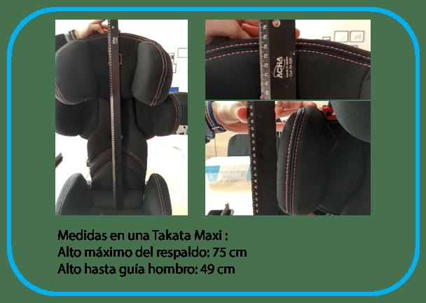comparativa medidas de silla Takata Maxi