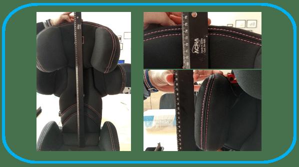 medidas de silla takata maxi