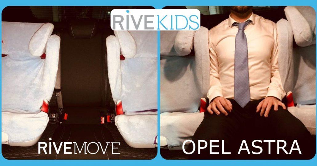 imagen de cómo un adulto puede viajar entre dos sillas gracias al anclaje rivemove
