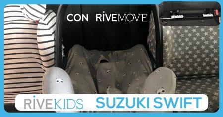 3 sillas instaladas en un suzuki swift con isofix