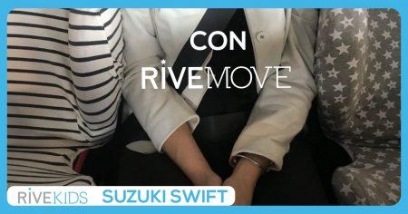 2 sillas de coche y un espacio para viajar en un suzuki swift isofix