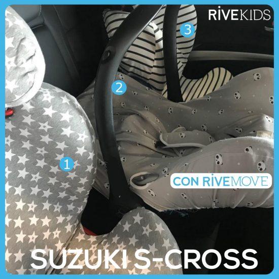 tres sillas de coche en suzuki isofix