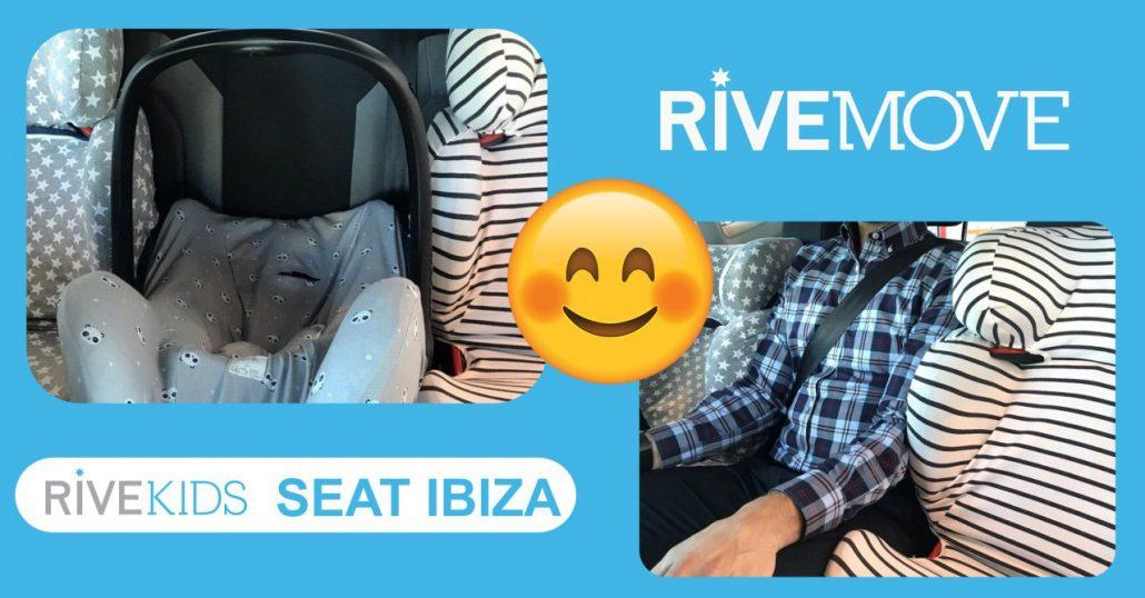 meter 3 sillas en un seat ibiza con isofix