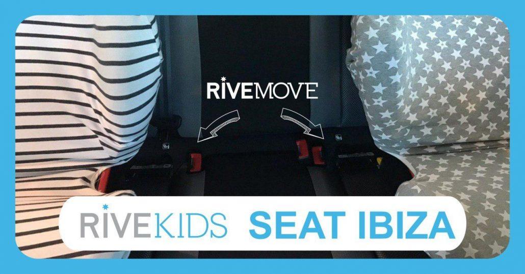dos sillas con rivemove para poder instalar 3 sillas en un seat ibiza