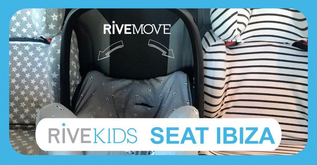 gracias a rivemove se muestra una imagen con 3 sillas en un seat ibiza son isofix