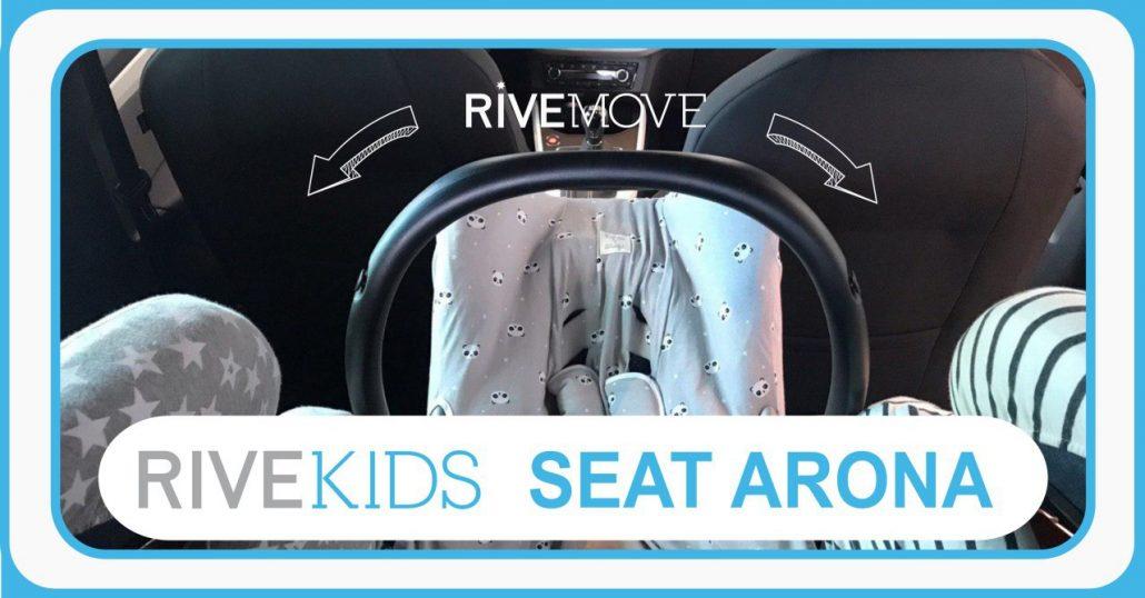 vista desde la parte de atrás tras instalar 3 sillas en un seat arona con isofix