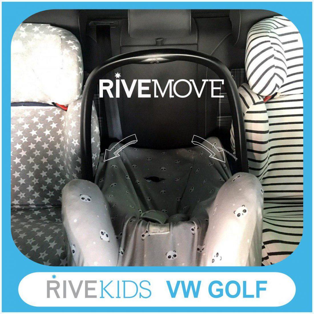 imagen de 3 sillas de auto instaladas en un volkswagen