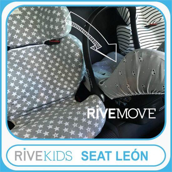 como instalar 3 sillas en un seat con isofix y rivemove