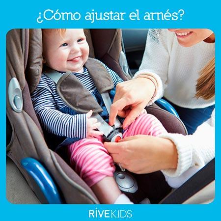 ajustar arnes sistema retencion infantil