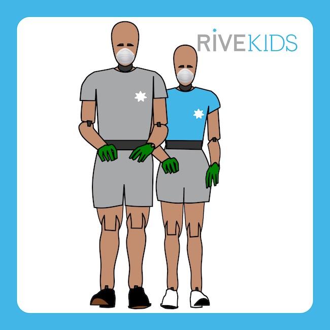 dummy hybridIII 5th mascarilla guantes rivekids