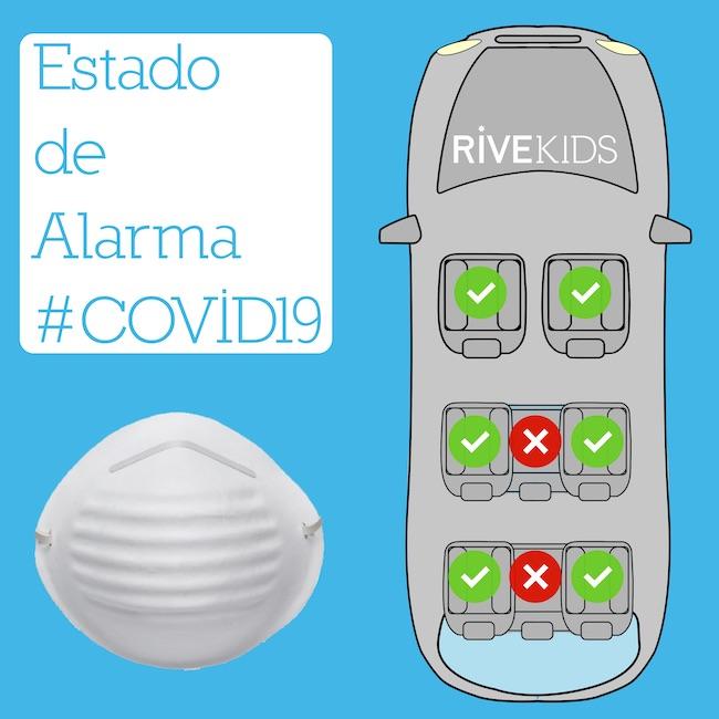 Coche 7 9 plazas Estado Alarma Coronavirus RiveKids