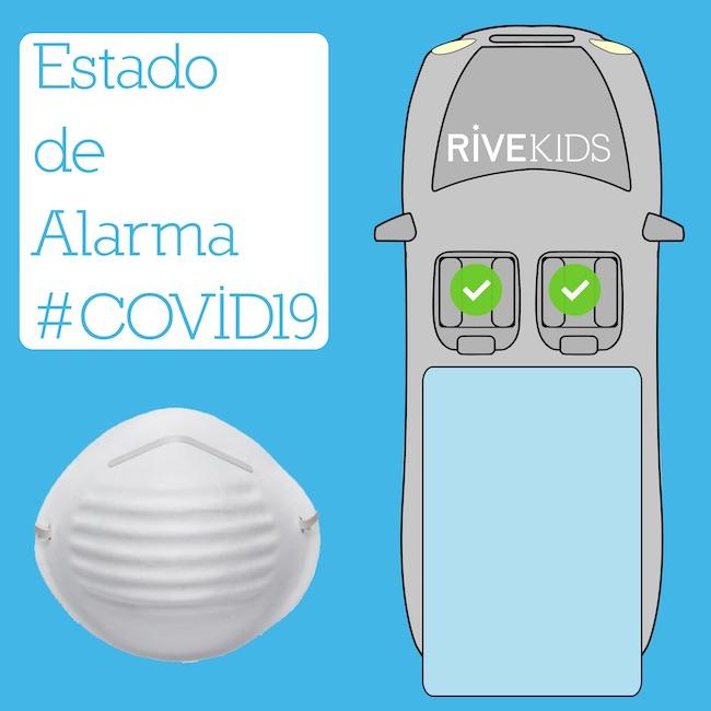 Furgoneta plazas Estado Alarma Coronavirus RiveKids